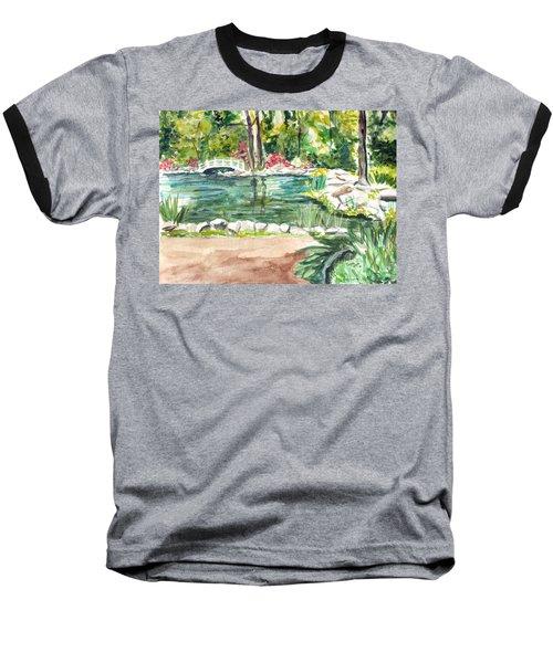 Baseball T-Shirt featuring the painting Sayen Pond by Clara Sue Beym