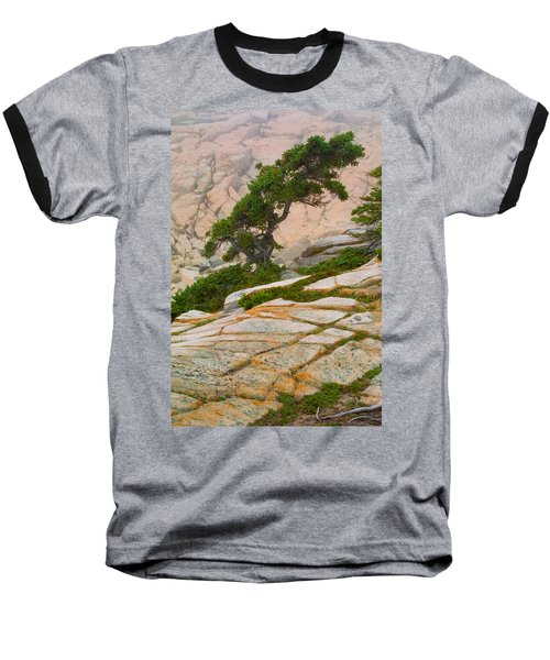 Baseball T-Shirt featuring the photograph Schoodic Cliffs by Brent L Ander