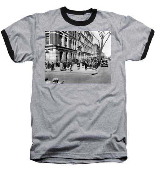 School's Out In Harlem Baseball T-Shirt by Underwood Archives
