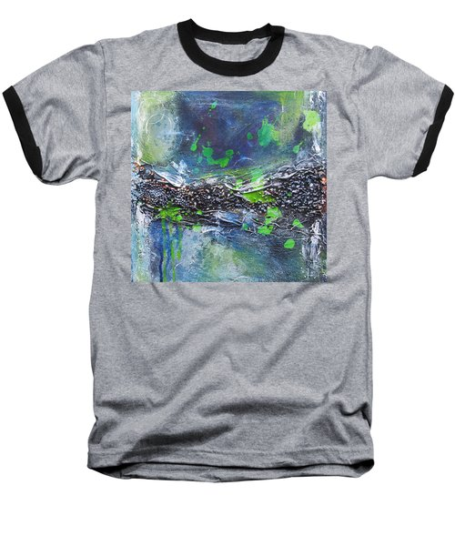 Baseball T-Shirt featuring the painting Sea World by Nicole Nadeau