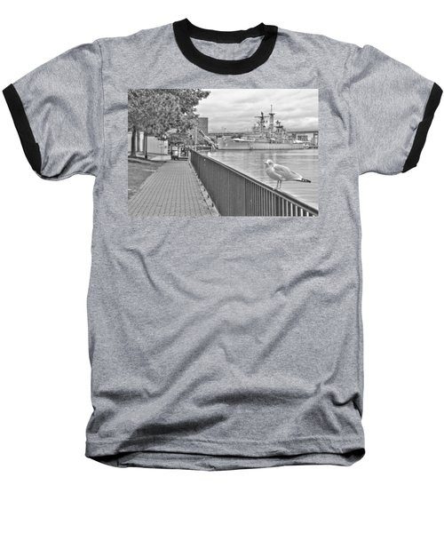 Baseball T-Shirt featuring the photograph Seagull At The Naval And Military Park by Michael Frank Jr