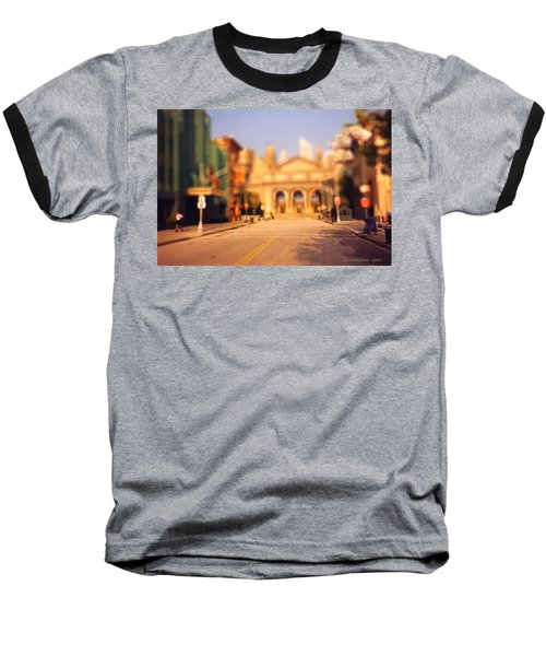 Baseball T-Shirt featuring the photograph Seaport Tiltshift by EricaMaxine  Price