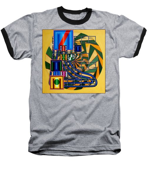 Baseball T-Shirt featuring the painting Sendintank by Mark Howard Jones