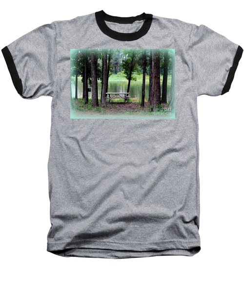 Baseball T-Shirt featuring the photograph Serene Escape by Kathy  White