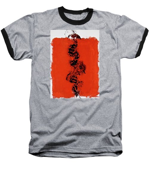 Serpentine All In A Roe Baseball T-Shirt by Cliff Spohn