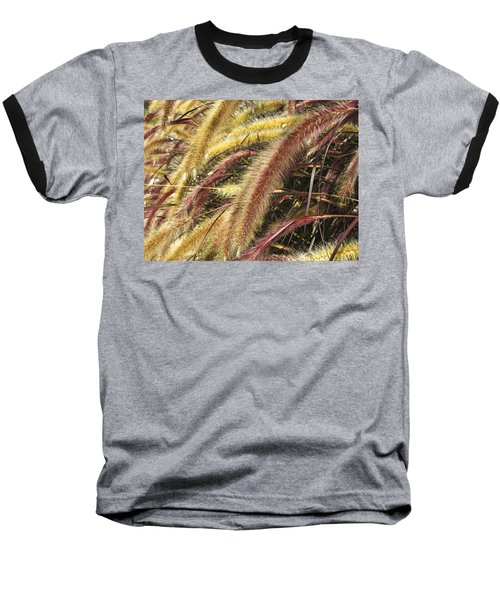 Setaria Italica Red Jewel - Red Bristle Grass Baseball T-Shirt by Anne Mott