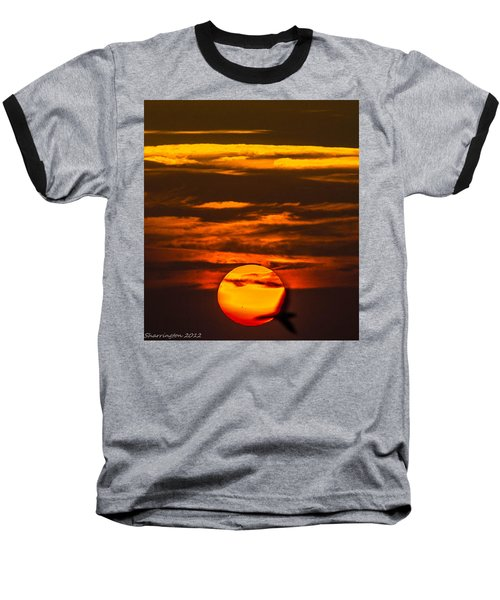 Setting Sun Flyby Baseball T-Shirt
