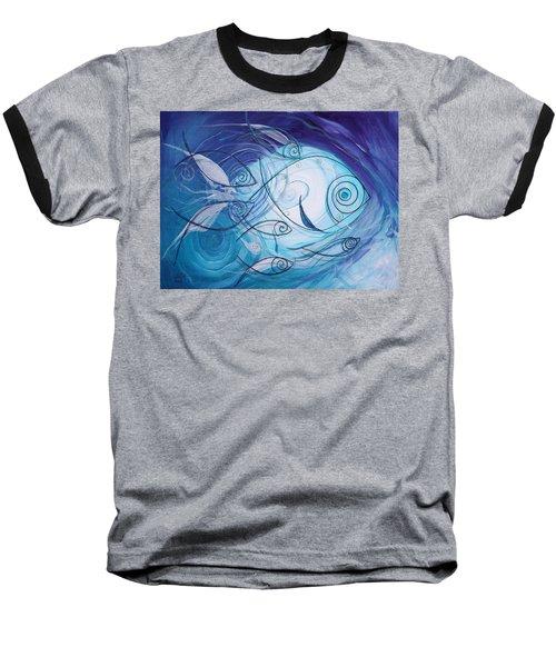 Seven Ichthus And A Heart Baseball T-Shirt