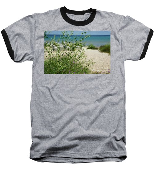 Baseball T-Shirt featuring the photograph Shades Of Blue by Linda Shafer