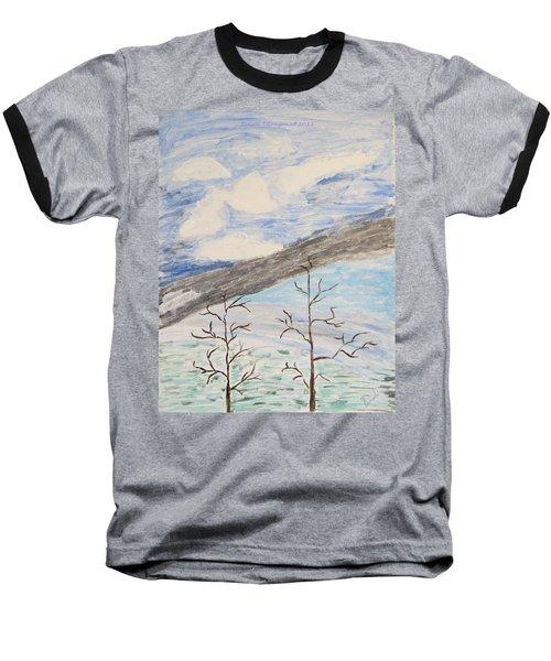 Baseball T-Shirt featuring the painting Shades Of Nature by Sonali Gangane