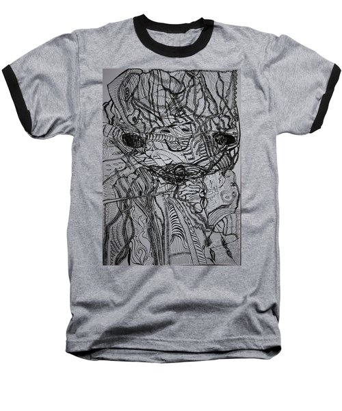 Baseball T-Shirt featuring the drawing Shango by Gloria Ssali