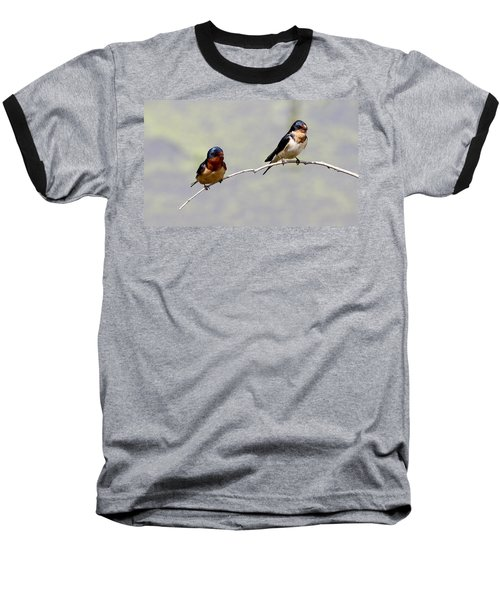 Baseball T-Shirt featuring the photograph Sharing A Branch by Elizabeth Winter