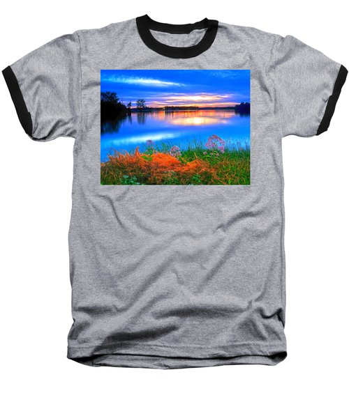 Baseball T-Shirt featuring the photograph Shoreline Sundown by Randall Branham