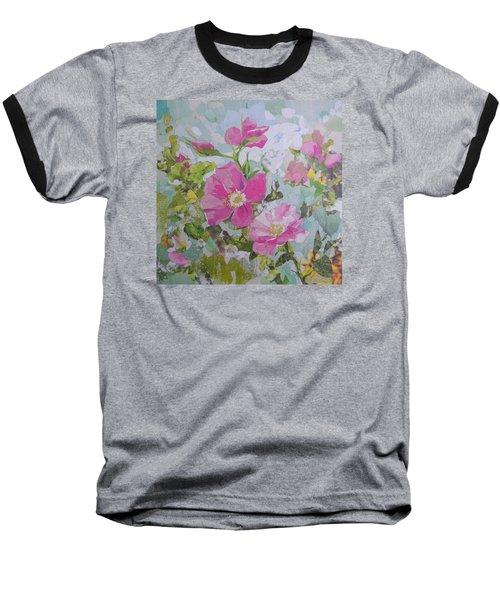Shrub Roses Baseball T-Shirt by Robin Birrell