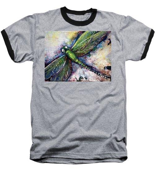 Silver Dragonfly Baseball T-Shirt