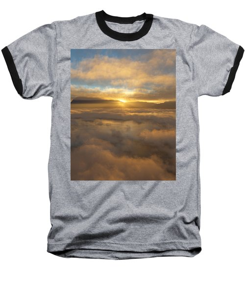 Silver Lake Sunrise Baseball T-Shirt by Mark Greenberg