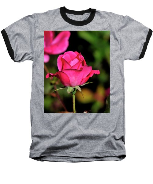 Simple Red Rose Baseball T-Shirt