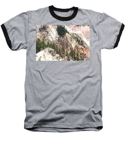 Sit For A Spell At Grand Canyon In Yellowstone Baseball T-Shirt by Living Color Photography Lorraine Lynch