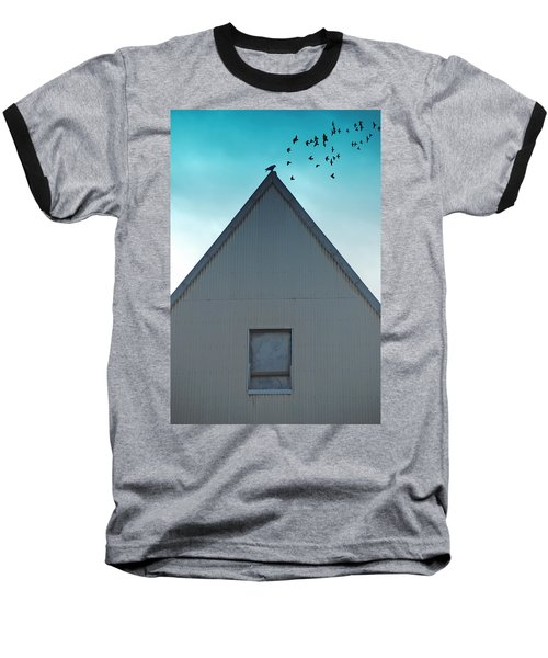 Baseball T-Shirt featuring the photograph Sitting On The Peak by Kathleen Grace