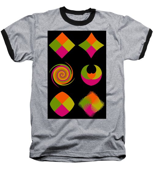 Baseball T-Shirt featuring the photograph Six Squared Collage by Steve Purnell