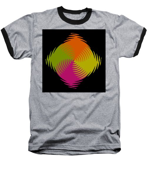 Baseball T-Shirt featuring the photograph Six Squared Zigzag by Steve Purnell
