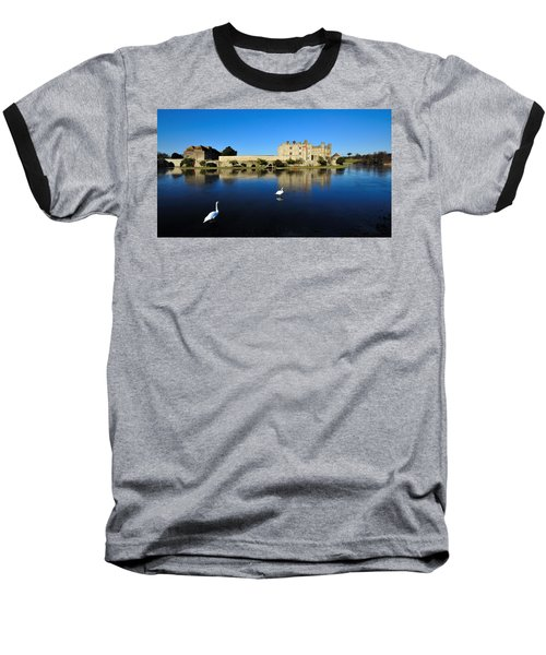 Skating Swans Baseball T-Shirt