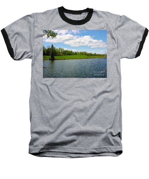 Baseball T-Shirt featuring the photograph Sky And Water Almost Meet by Sherman Perry