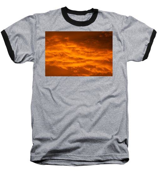 Sky Of Fire Baseball T-Shirt