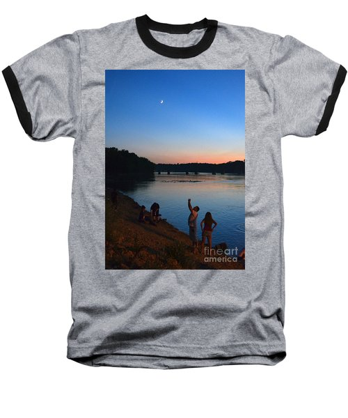 Skywatchers Baseball T-Shirt by Sue Stefanowicz