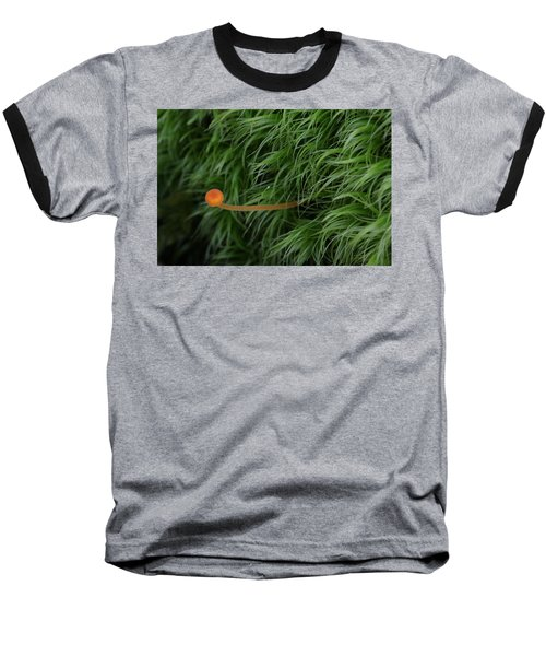 Small Orange Mushroom In Moss Baseball T-Shirt