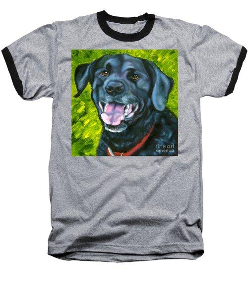 Smiling Lab Baseball T-Shirt