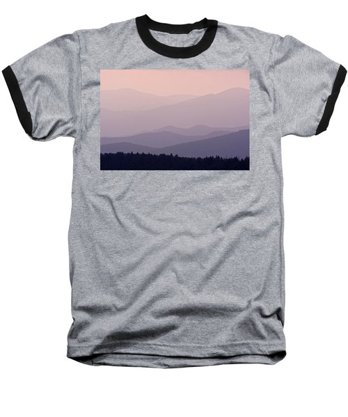 Smoky Mountain Sunset Baseball T-Shirt