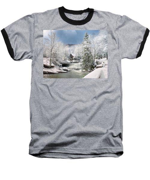 Snow At Babcock State Park Baseball T-Shirt