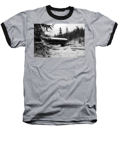 Snow Covered Bridge Baseball T-Shirt