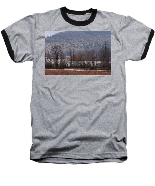 Snow Geese Rising Baseball T-Shirt
