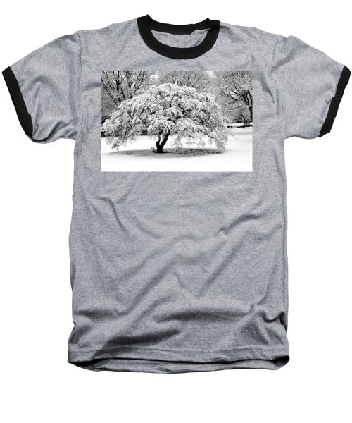 Snow In Connecticut Baseball T-Shirt