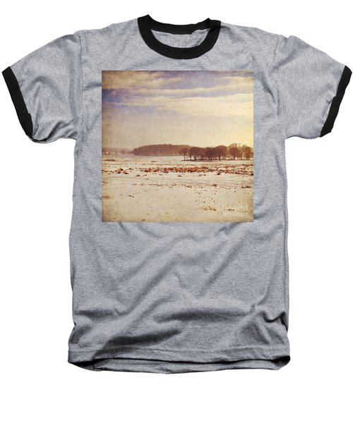 Snowy Landscape Baseball T-Shirt by Lyn Randle