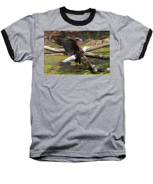 Baseball T-Shirt featuring the photograph Soaring Eagle by Elizabeth Winter