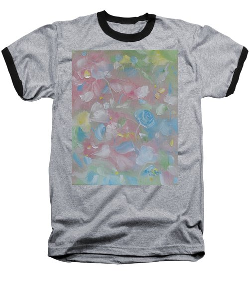 Baseball T-Shirt featuring the painting Softly Spoken by Judith Rhue