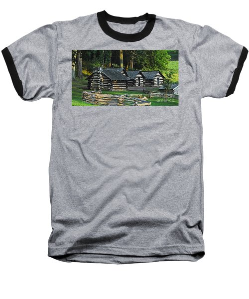 Baseball T-Shirt featuring the photograph Soldiers Quarters At Valley Forge by Cindy Manero
