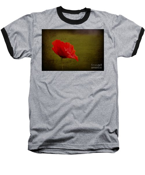 Baseball T-Shirt featuring the photograph Solitary Poppy. by Clare Bambers