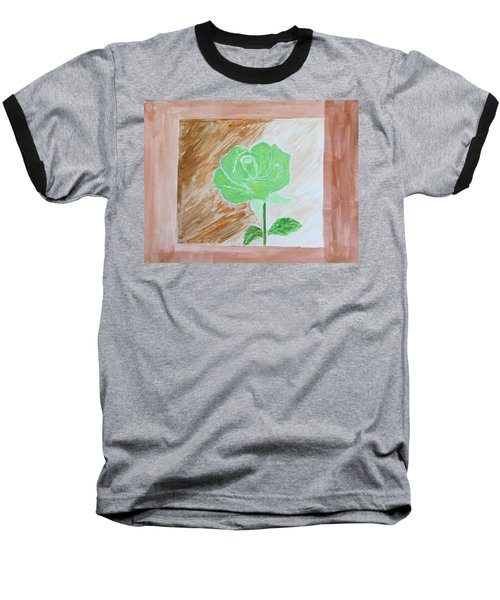 Baseball T-Shirt featuring the painting Solitary Rose by Sonali Gangane