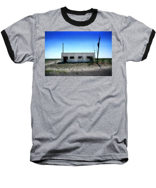 Baseball T-Shirt featuring the photograph Somewhere On The Old Pecos Highway Number 1 by Lon Casler Bixby