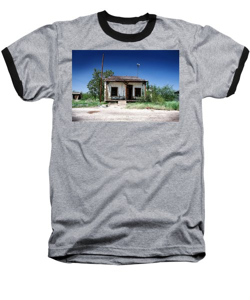 Baseball T-Shirt featuring the photograph Somewhere On The Old Pecos Highway Number 3 by Lon Casler Bixby