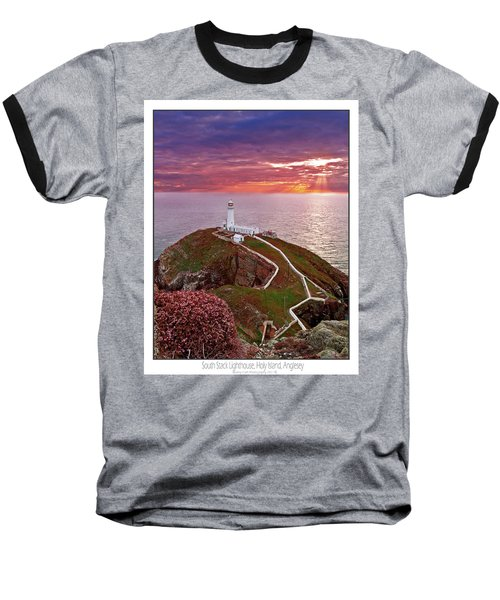 Baseball T-Shirt featuring the photograph South Stack Lighthouse by Beverly Cash