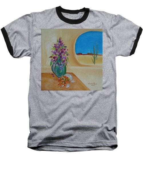 Baseball T-Shirt featuring the painting Southwestern 3 by Judith Rhue