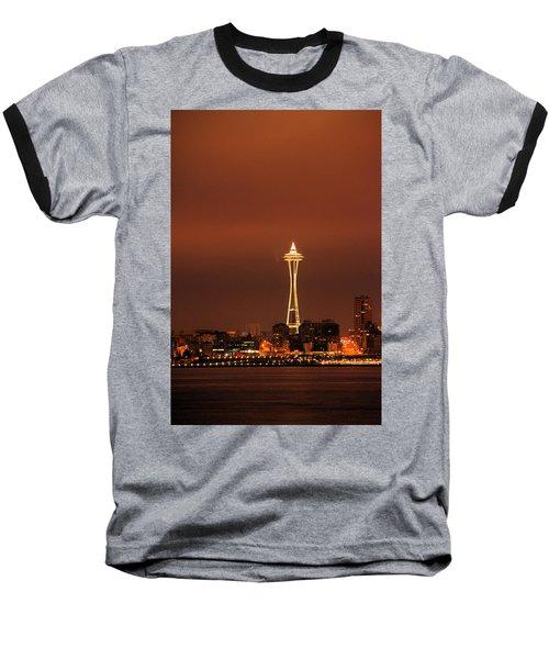 Space Needle Morning Baseball T-Shirt