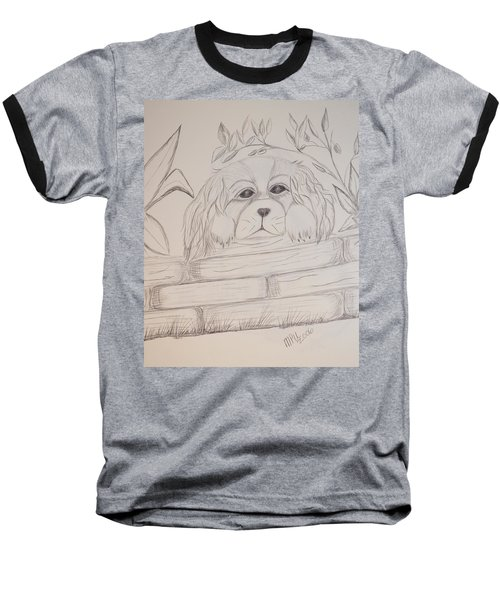 Baseball T-Shirt featuring the drawing Spaniel Pup by Maria Urso