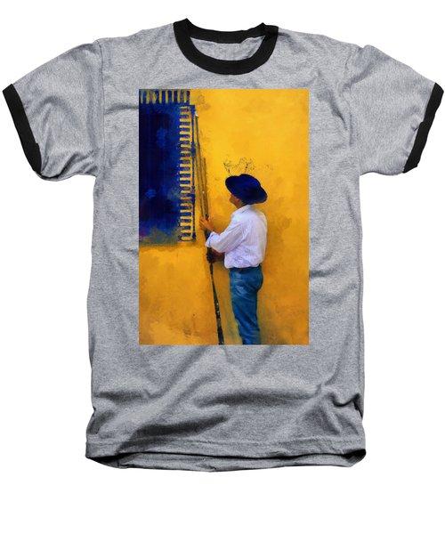 Spanish Man At The Yellow Wall. Impressionism Baseball T-Shirt