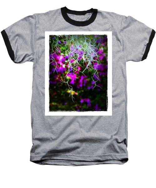 Baseball T-Shirt featuring the photograph Spanish Moss And Azaleas by Judi Bagwell